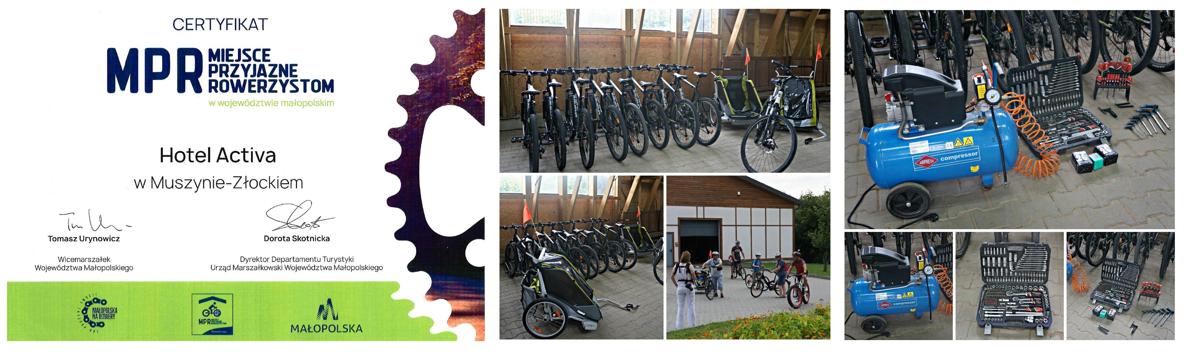 Hotel Activa*** – miejsce przyjazne rowerzystom.