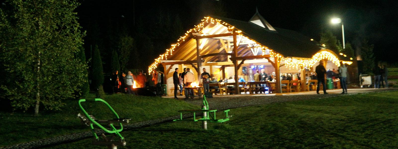 impreza integracyjna w Hotelu Activa - wiata grillowa