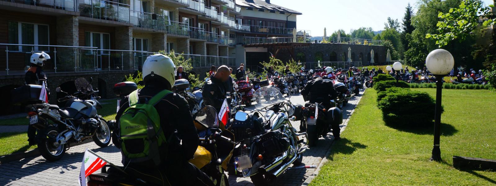 impreza firmowa w Hotelu Ativa - zjazd motocyklistów