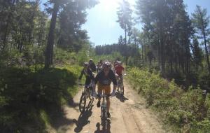 Zjazd rowerowy z Jaworzyny Krynickiej
